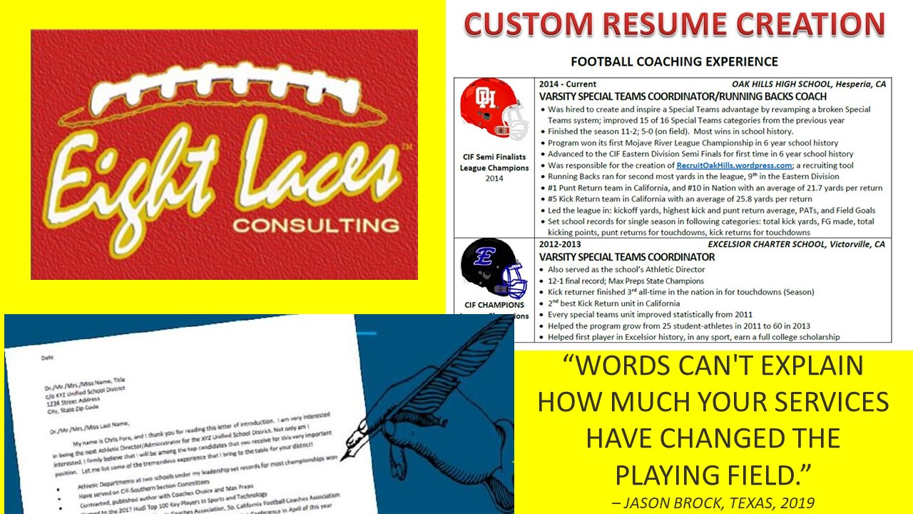 Resume - PLAYOFF PACKAGE (Resume + Cover Letter)